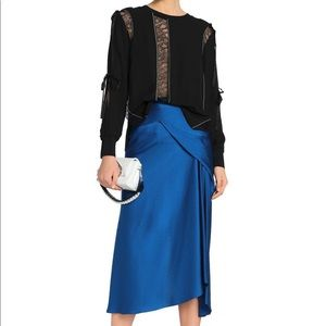 3.1 Phillip Lim lace trimmed cutout silk blouse